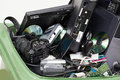 Electronics in dustbin closeup of an green Royalty Free Stock Photo