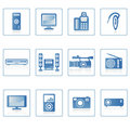 Electronics icon II Stock Images