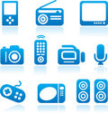 Electronics icon set Stock Photo