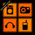 Electronics icon set Stock Images