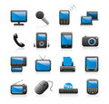 Electronics icons Royalty Free Stock Photo