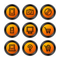 Electronics icons, orange ser. Royalty Free Stock Photos