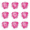 Electronics icons, pink series Royalty Free Stock Photo
