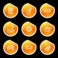 Electronics icons set 2 Royalty Free Stock Photography