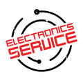 Electronics Service rubber stamp