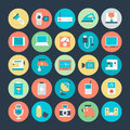 Electronics vector icons here is set that are useful for web designers graphic designers ecommerce web templates blogs android Royalty Free Stock Photos