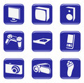 Electronics - vector web icons (buttons) Stock Image