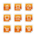 Electronics web icons Royalty Free Stock Photography