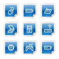 Electronics web icons, blue sticker series set 2 Royalty Free Stock Photo