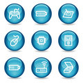 Electronics web icons, glossy sphere series set 2 Royalty Free Stock Image