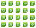 Electronics web icons, green sticker series Royalty Free Stock Photo