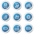 Electronics web icons set 2, blue sticker series Royalty Free Stock Photo