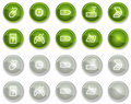 Electronics web icons set 2, circle buttons series Royalty Free Stock Images