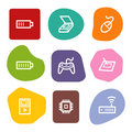 Electronics web icons set 2, colour spots series Stock Photo