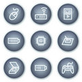 Electronics web icons set 2, mineral circle Stock Photo