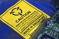 Electrostatic Warning Label Royalty Free Stock Photo