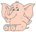 Elefante (grampo-arte do vetor) Foto de Stock Royalty Free