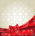 Elegance background with ribbon bow illustration Royalty Free Stock Photos