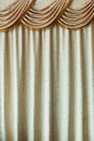 Elegance curtain close up yellow color background Royalty Free Stock Photos
