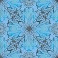 Elegance floral 3d vector seamless mandala pattern.