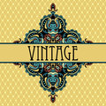 Elegance luxury vintage vignette design card ethnic background Stock Image