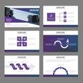 Elegance Purple presentation templates Infographic elements flat design set for brochure flyer leaflet marketing advertising