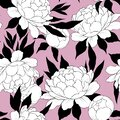 Elegance seamless pattern with flower peony. Floral background Royalty Free Stock Photo