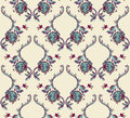 Elegance seamless pattern with flowers ornament floral illustration in vintage style Royalty Free Stock Image