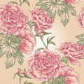Elegance seamless peony pattern this is file of eps format Royalty Free Stock Image