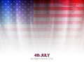 Elegant american flag theme background design for independence day vector illustration Royalty Free Stock Photos