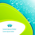 Elegant aqua business background Royalty Free Stock Photography
