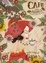 Elegant Arabica coffee beans ads Royalty Free Stock Photo