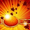 Elegant autumn banner. Includes Transparencies Royalty Free Stock Photography