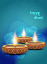 Elegant background design for diwali festival with vector illustration of beautiful lamp Stock Photos