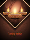 Elegant background design for diwali festival with vector illustration of beautiful lamp Royalty Free Stock Photo