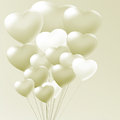 Elegant balloons heart valentine s day eps vector file included Stock Image