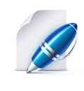 Elegant ballpoint pen Stock Photo