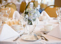 Elegant banquet wedding table Royalty Free Stock Photography