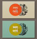 Elegant baroque badges elements for design vector illustration beautiful Royalty Free Stock Images
