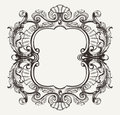Elegant Baroque Ornate Curves  Frame Royalty Free Stock Photo