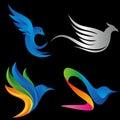 Elegant Bird Concept Logo