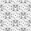Elegant black round forged seamless pattern vector black and white background with arrow circle and heart decoration arrows Royalty Free Stock Images