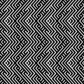 An elegant black and white, vector pattern Royalty Free Stock Images