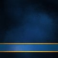 Elegant blue background layout with blank blue and gold stripe footer Royalty Free Stock Photo