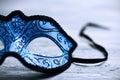 Elegant blue carnival mask Royalty Free Stock Photo