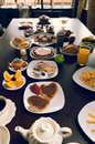 Elegant breakfast buffet selection spread out Royalty Free Stock Photo