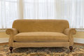 Elegant Brown Couch at the Living Area Royalty Free Stock Photo