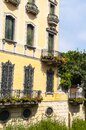 Elegant building by a narrow side canal in Padua Italy Royalty Free Stock Photo