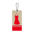 Elegant businesswoman dress icon