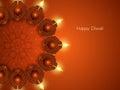 Elegant card design for diwali festival